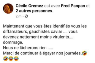 Cécile Gremez - Madame Panpan. Capture Facebook